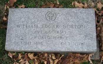 NORTON, WILLAM EDGAR - Marion County, Illinois | WILLAM EDGAR NORTON - Illinois Gravestone Photos