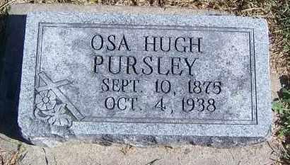 PURSLEY, OSA HUGH - Marion County, Illinois | OSA HUGH PURSLEY - Illinois Gravestone Photos