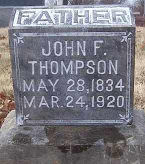 THOMPSON, JOHN F - Marion County, Illinois | JOHN F THOMPSON - Illinois Gravestone Photos
