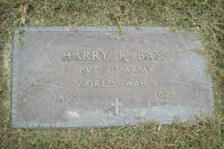 BASS, PVT RAYMOND HAROLD - Marshall County, Illinois   PVT RAYMOND HAROLD BASS - Illinois Gravestone Photos