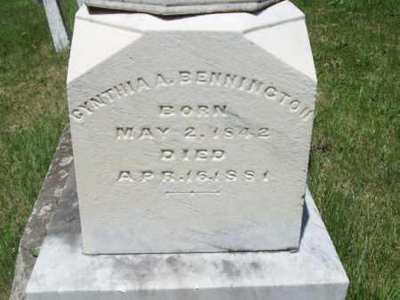 BENNINGTON, CYNTHIA - Marshall County, Illinois   CYNTHIA BENNINGTON - Illinois Gravestone Photos