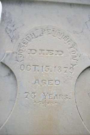 BENNINGTON, JOSEPH - Marshall County, Illinois   JOSEPH BENNINGTON - Illinois Gravestone Photos