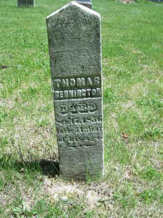 BENNINGTON, THOMAS - Marshall County, Illinois | THOMAS BENNINGTON - Illinois Gravestone Photos