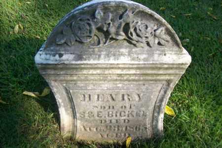 BICKEL, HENRY - Marshall County, Illinois | HENRY BICKEL - Illinois Gravestone Photos