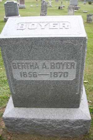 BOYER, BERTHA A. - Marshall County, Illinois   BERTHA A. BOYER - Illinois Gravestone Photos
