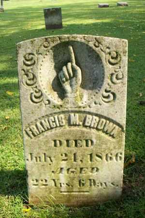 BROWN, FRANCIS M. - Marshall County, Illinois | FRANCIS M. BROWN - Illinois Gravestone Photos