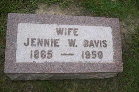 DAVIS, JENNIE W. - Marshall County, Illinois | JENNIE W. DAVIS - Illinois Gravestone Photos