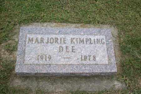 KIMPLING DEE, MARJORIE - Marshall County, Illinois | MARJORIE KIMPLING DEE - Illinois Gravestone Photos