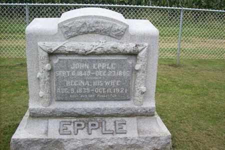 EPPLE, REGINA - Marshall County, Illinois | REGINA EPPLE - Illinois Gravestone Photos
