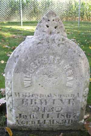 ERWINE, WILLEY - Marshall County, Illinois | WILLEY ERWINE - Illinois Gravestone Photos