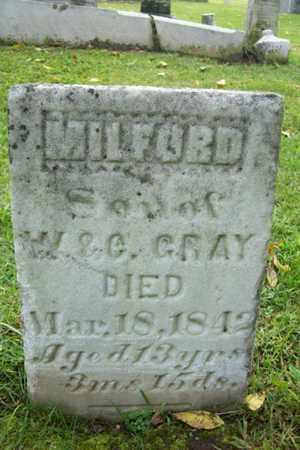 GRAY, MILFORD - Marshall County, Illinois | MILFORD GRAY - Illinois Gravestone Photos