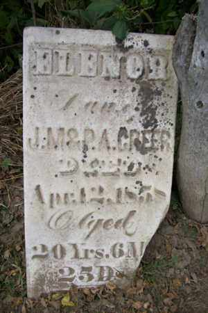 GREER, ELENOR - Marshall County, Illinois   ELENOR GREER - Illinois Gravestone Photos