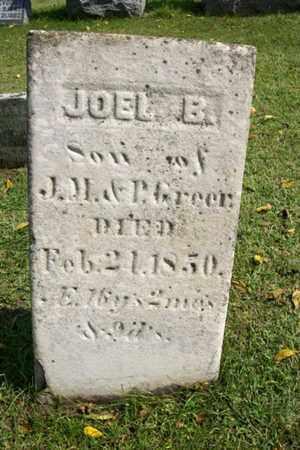 GREER, JOEL B. - Marshall County, Illinois | JOEL B. GREER - Illinois Gravestone Photos