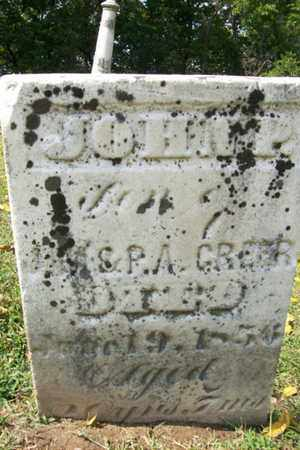 GREER, JOHN P. - Marshall County, Illinois | JOHN P. GREER - Illinois Gravestone Photos