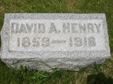 HENRY, DAVID A. - Marshall County, Illinois | DAVID A. HENRY - Illinois Gravestone Photos