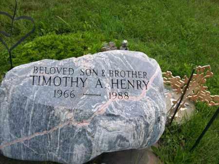 HENRY, TIMOTHY A. - Marshall County, Illinois | TIMOTHY A. HENRY - Illinois Gravestone Photos
