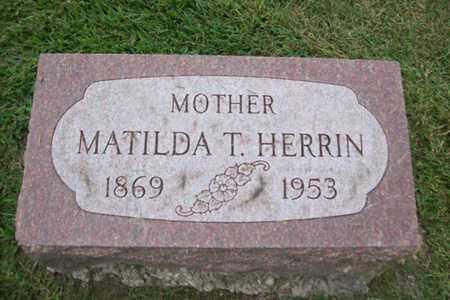 ZILM HERRIN, MATILDA T. - Marshall County, Illinois | MATILDA T. ZILM HERRIN - Illinois Gravestone Photos