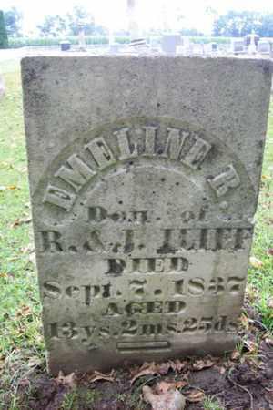 ILIFF, EMELINE R. - Marshall County, Illinois   EMELINE R. ILIFF - Illinois Gravestone Photos