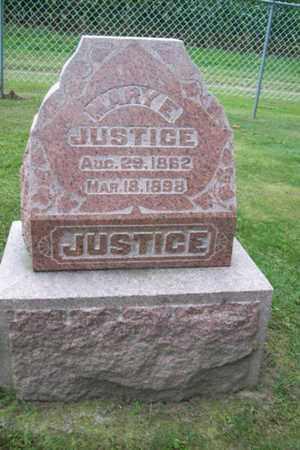 DAVIS JUSTICE, MARY ETTA - Marshall County, Illinois | MARY ETTA DAVIS JUSTICE - Illinois Gravestone Photos