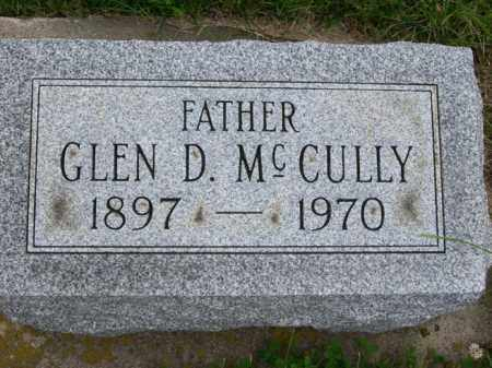 MCCULLY, GLEN D. - Marshall County, Illinois | GLEN D. MCCULLY - Illinois Gravestone Photos