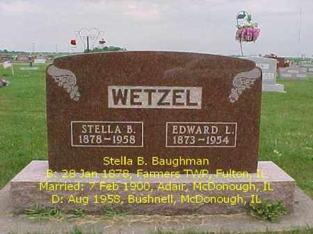 BAUGHMAN WETZEL, STELLA B. - McDonough County, Illinois | STELLA B. BAUGHMAN WETZEL - Illinois Gravestone Photos