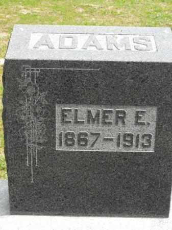 ADAMS, ELMER E. - McDonough County, Illinois | ELMER E. ADAMS - Illinois Gravestone Photos
