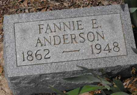 ANDERSON, FANNIE E. - McDonough County, Illinois | FANNIE E. ANDERSON - Illinois Gravestone Photos