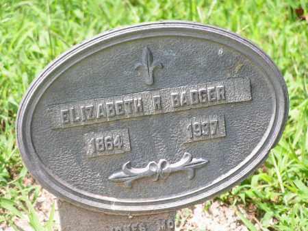 BADGER, ELIZABETH R. - McDonough County, Illinois | ELIZABETH R. BADGER - Illinois Gravestone Photos