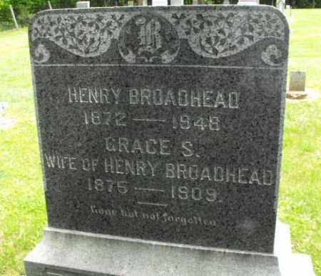 BROADHEAD, GRACE S. - McDonough County, Illinois | GRACE S. BROADHEAD - Illinois Gravestone Photos