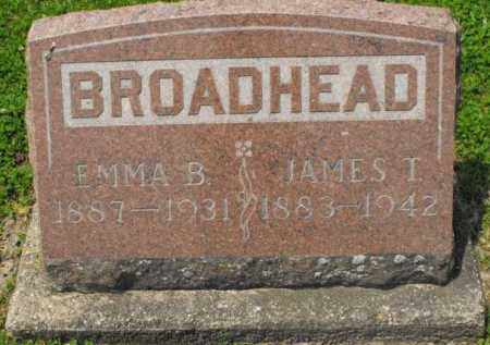 BROADHEAD, JAMES T. - McDonough County, Illinois | JAMES T. BROADHEAD - Illinois Gravestone Photos
