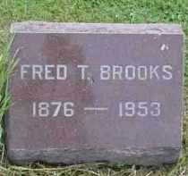 BROOKS, FRED T. - McDonough County, Illinois | FRED T. BROOKS - Illinois Gravestone Photos