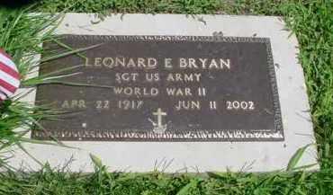 BRYAN, LEONARD E. - McDonough County, Illinois | LEONARD E. BRYAN - Illinois Gravestone Photos