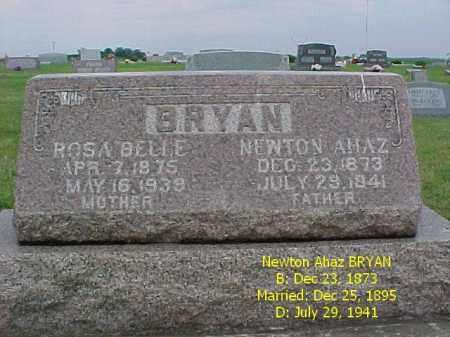 BRYAN, NEWTON AHAZ - McDonough County, Illinois | NEWTON AHAZ BRYAN - Illinois Gravestone Photos