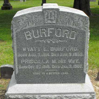 BURFORD, PRISCILLA M. - McDonough County, Illinois   PRISCILLA M. BURFORD - Illinois Gravestone Photos