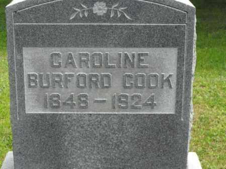 BURFORD COOK, CAROLINE - McDonough County, Illinois | CAROLINE BURFORD COOK - Illinois Gravestone Photos