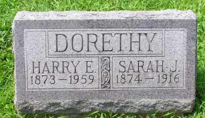 DORETHY, SARAH J. - McDonough County, Illinois | SARAH J. DORETHY - Illinois Gravestone Photos