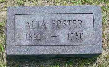 FOSTER, ALTA - McDonough County, Illinois | ALTA FOSTER - Illinois Gravestone Photos