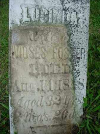 FOSTER, LUCINDA - McDonough County, Illinois | LUCINDA FOSTER - Illinois Gravestone Photos