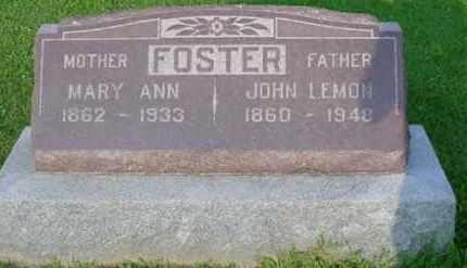 FOSTER, MARY ANN - McDonough County, Illinois | MARY ANN FOSTER - Illinois Gravestone Photos