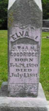 GOODRIDGE, ELVA I. - McDonough County, Illinois | ELVA I. GOODRIDGE - Illinois Gravestone Photos
