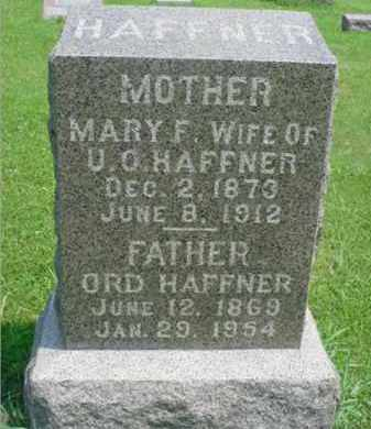 LANCE HAFFNER, MARY F. - McDonough County, Illinois | MARY F. LANCE HAFFNER - Illinois Gravestone Photos