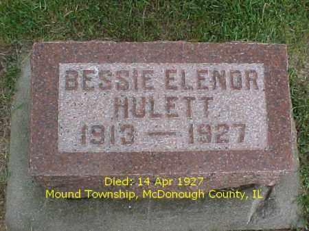 HULETT, BESSIE ELENOR - McDonough County, Illinois   BESSIE ELENOR HULETT - Illinois Gravestone Photos