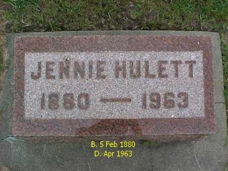 HULETT, JENNIE - McDonough County, Illinois | JENNIE HULETT - Illinois Gravestone Photos