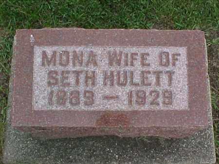 HULETT, MONA SPARKS - McDonough County, Illinois   MONA SPARKS HULETT - Illinois Gravestone Photos