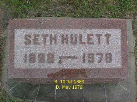 HULETT, SETH - McDonough County, Illinois | SETH HULETT - Illinois Gravestone Photos