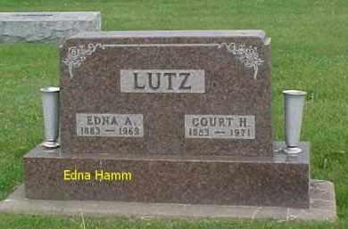 HAMM LUTZ, EDNA - McDonough County, Illinois | EDNA HAMM LUTZ - Illinois Gravestone Photos