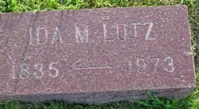 LUTZ, IDA M. - McDonough County, Illinois   IDA M. LUTZ - Illinois Gravestone Photos