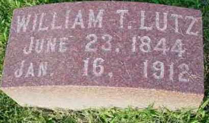 LUTZ, WILLIAM T. - McDonough County, Illinois | WILLIAM T. LUTZ - Illinois Gravestone Photos