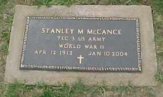 MCCANCE, STANLEY M. - McDonough County, Illinois   STANLEY M. MCCANCE - Illinois Gravestone Photos