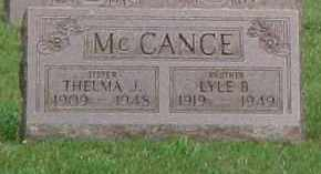 MCCANCE, THELMA J. - McDonough County, Illinois | THELMA J. MCCANCE - Illinois Gravestone Photos
